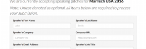 MarTech 2016 Call for Speakers