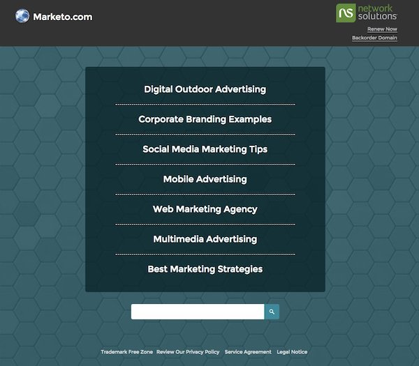 Marketo.com Domain Expired